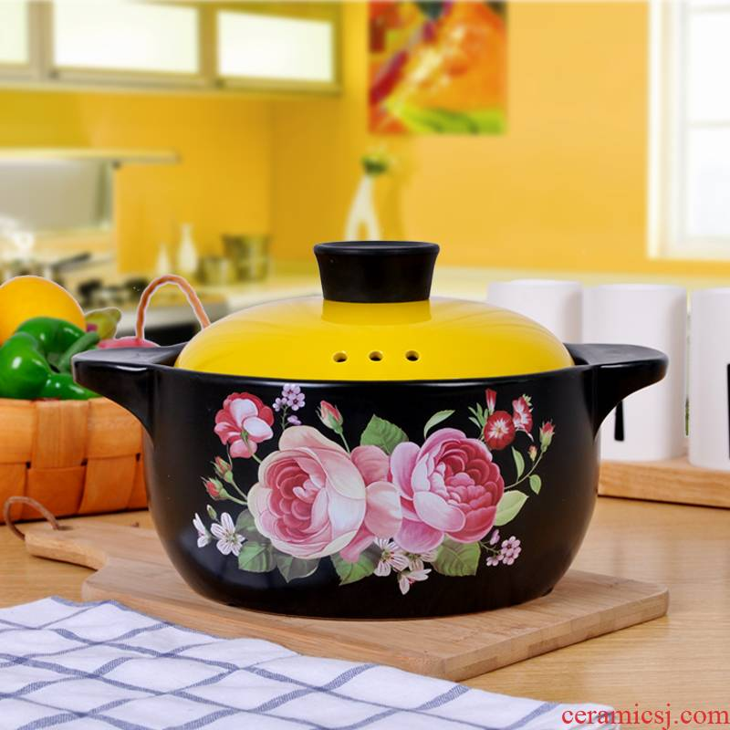 Jingdezhen ceramic pot casserole stew household fire casserole health stew pot, high - temperature soup pot soup pot gas