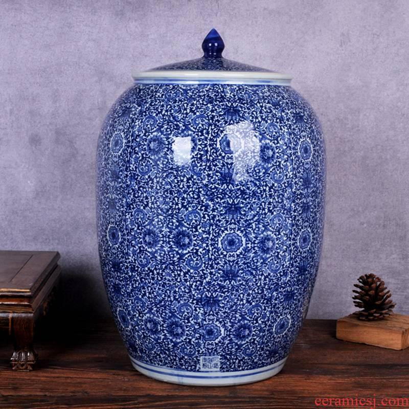 Ceramic household barrel ricer box 20 jins of 50 kg 100 jins of oil storage tank cylinder barrel pickles meat cylinder seal moisture