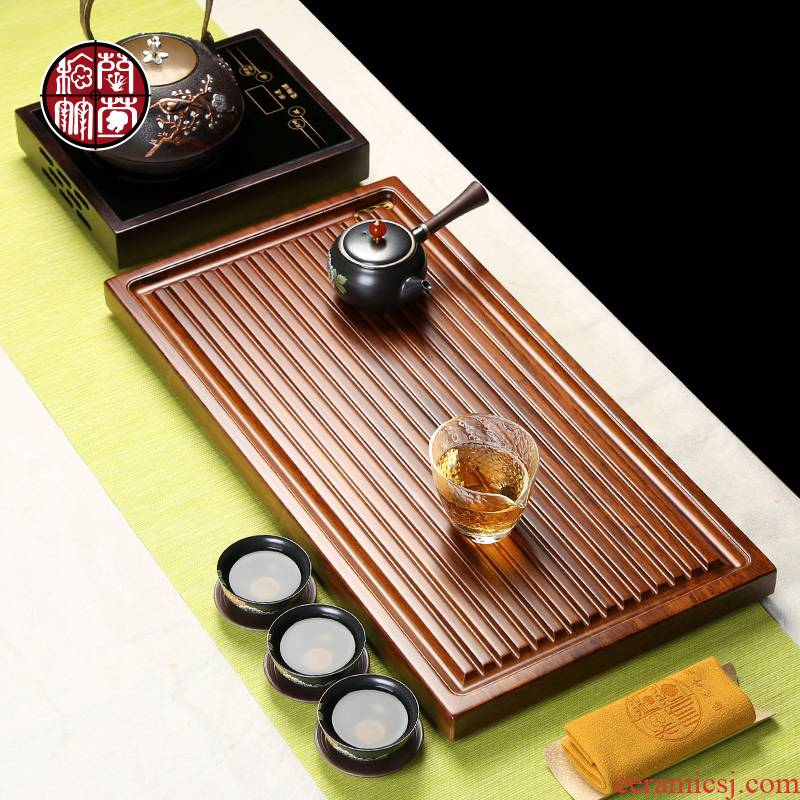 Tea tray Tea tray was contracted household contracted a rectangle drainage office natural bamboo Tea tray was dry Tea table