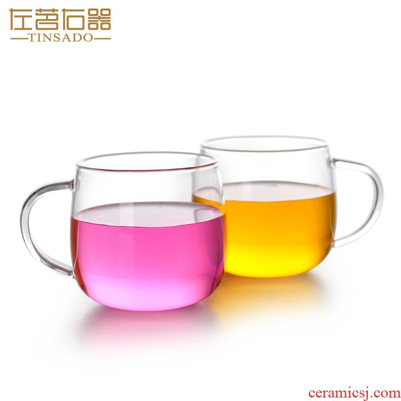 ZuoMing right is heat - resistant glass transparent glass, household take more kung fu small cups in 200 ml of the sitting room