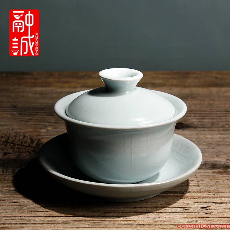 Melting cheng cyan your up tureen tea day three to start your porcelain bowl kung fu tea set large bowl clutching bowls