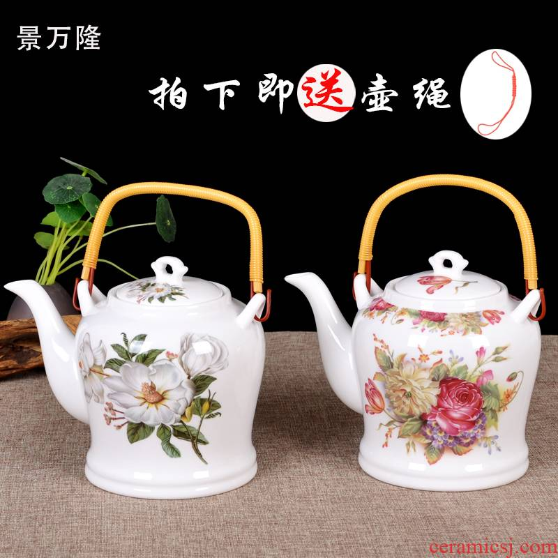 High temperature resistant nostalgic jingdezhen ceramic teapot cool large capacity kettle cold summer home teapot explosion - proof kettle