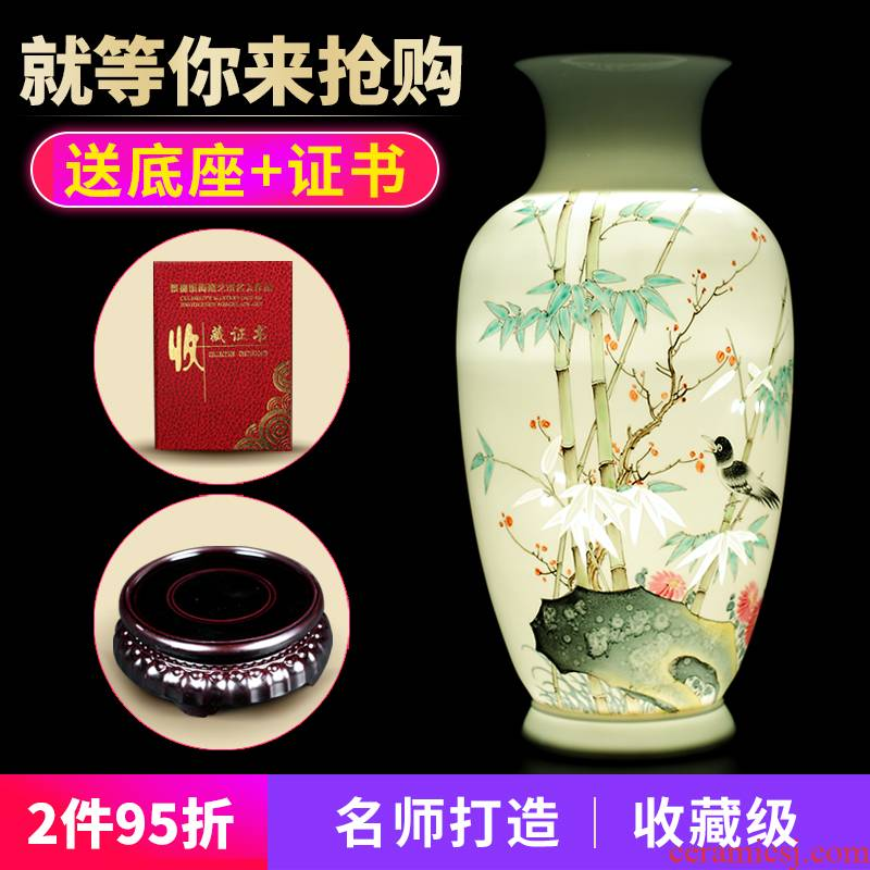 Manual hand - made furnishing articles of jingdezhen ceramic vase and exquisite porcelain flower arranging home sitting room collection certificate porcelain arts and crafts