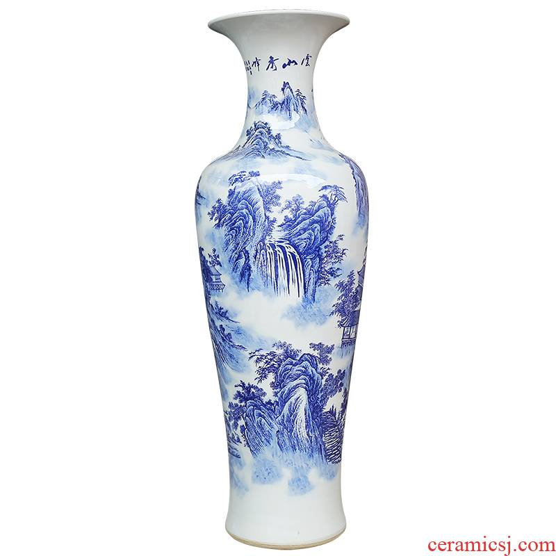 Jingdezhen ceramics hand - made porcelain landing large vases, modern household act the role ofing is tasted furnishing articles sitting room hotel company