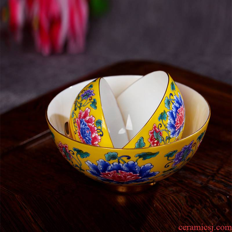 Red xin jingdezhen suit ipads porcelain tableware rainbow such use archaize enamel pastel color to use imperial palace