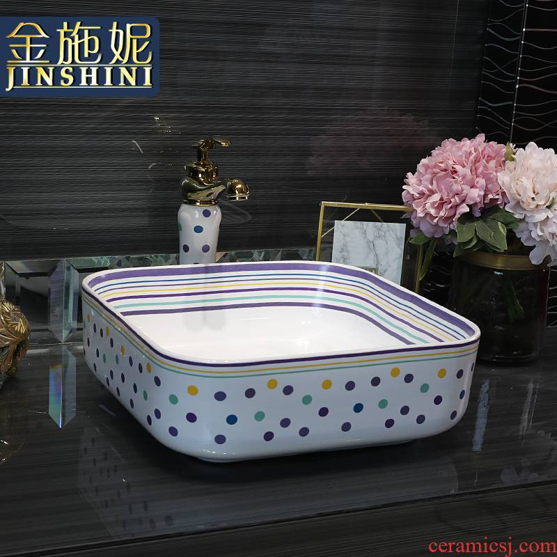 Gold cellnique lavatory toilet lavabo color ceramic disc white art basin that wash a face, square wave