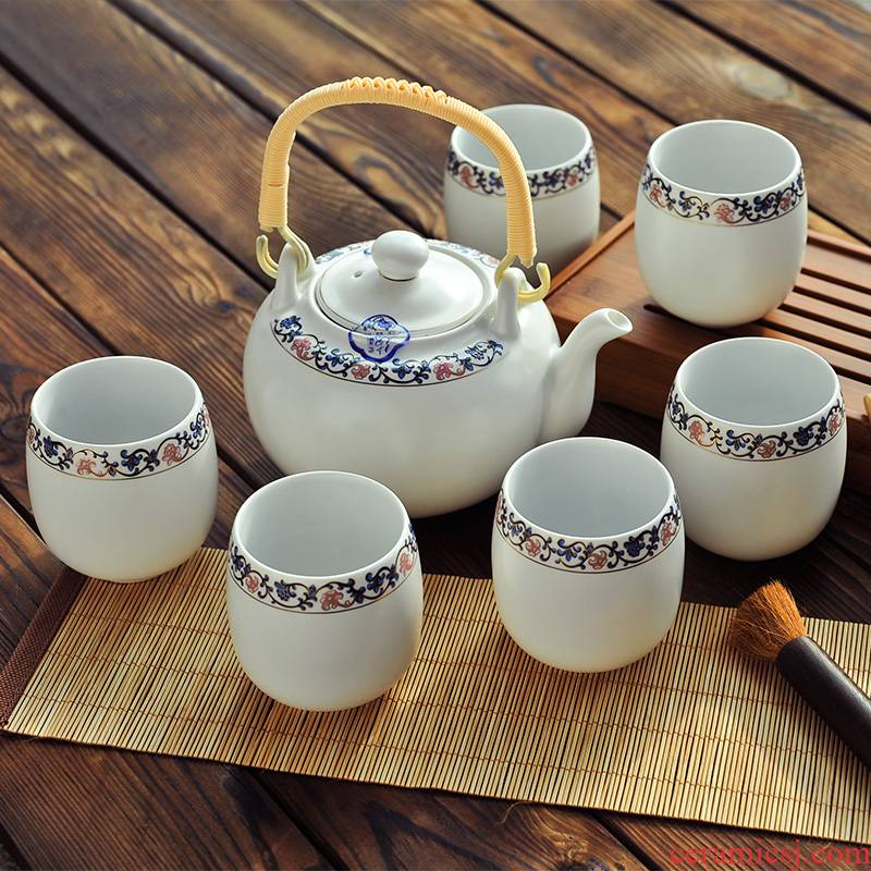 More sets and tea sets suit jingdezhen ceramic tea set 6 cup 1 teapot