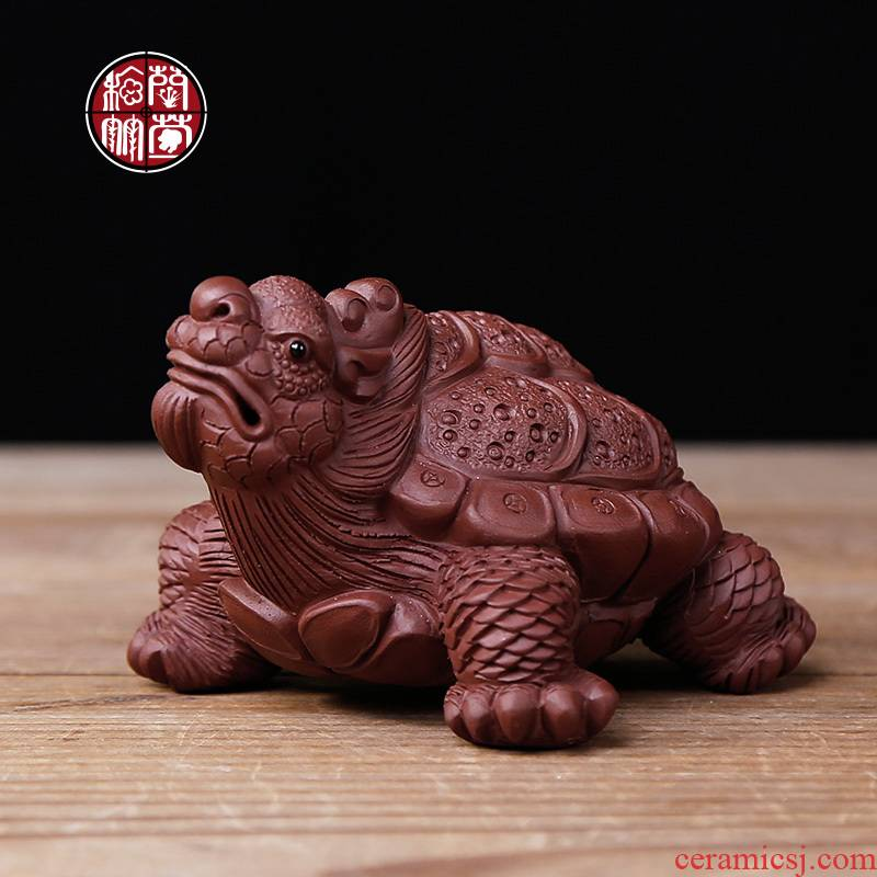 Tea pet furnishing articles can keep purple mini auspicious dragon turtle water can be 2 support a family of Tea play kung fu Tea tray is placed