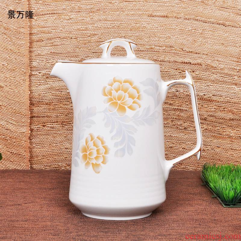 Jingdezhen ceramic cold porcelain teapot kettle high - capacity, heat - resistant high - temperature home summer the teapot