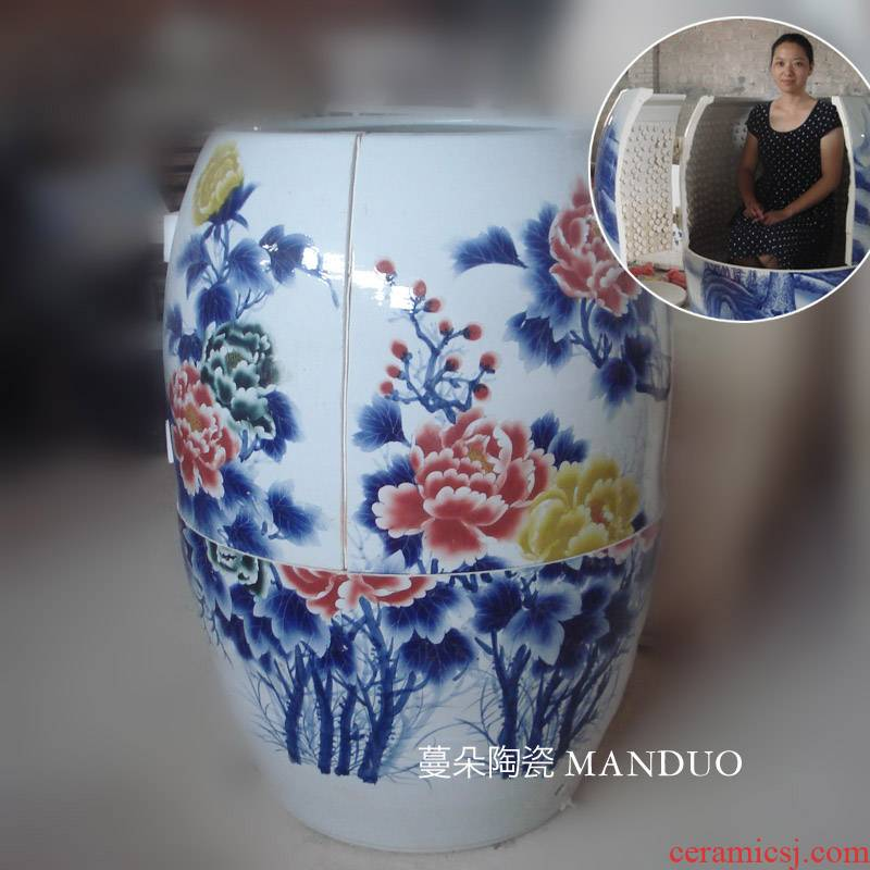 Jingdezhen curing porcelain line cylinder urn moxibustion cylinder steam anion time! Evaporate care moxibustion cylinder steam cylinder five lines