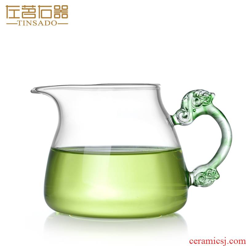 Fair ZuoMing right is more narrow glass the glass cup points is big capacity of tea and a cup of tea (a single take