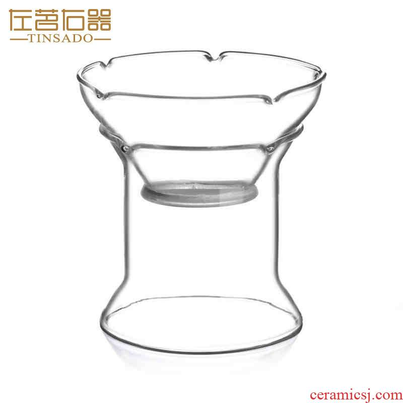 ZuoMing right device glass) kung fu tea tea tea strainer saucer base accessories creative tea strainer