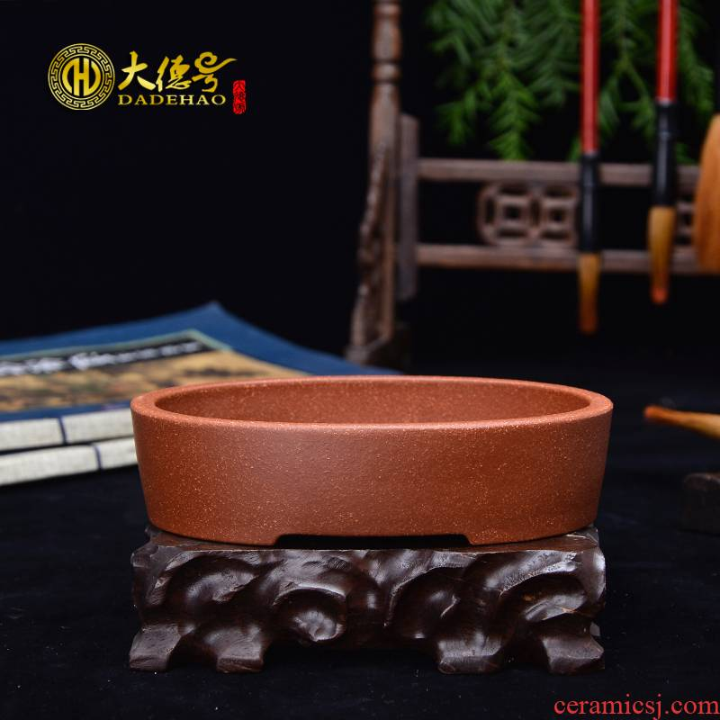 Greatness, yixing violet arenaceous basin of small waist round small bonsai flowers, green classical fleshy bonsai POTS