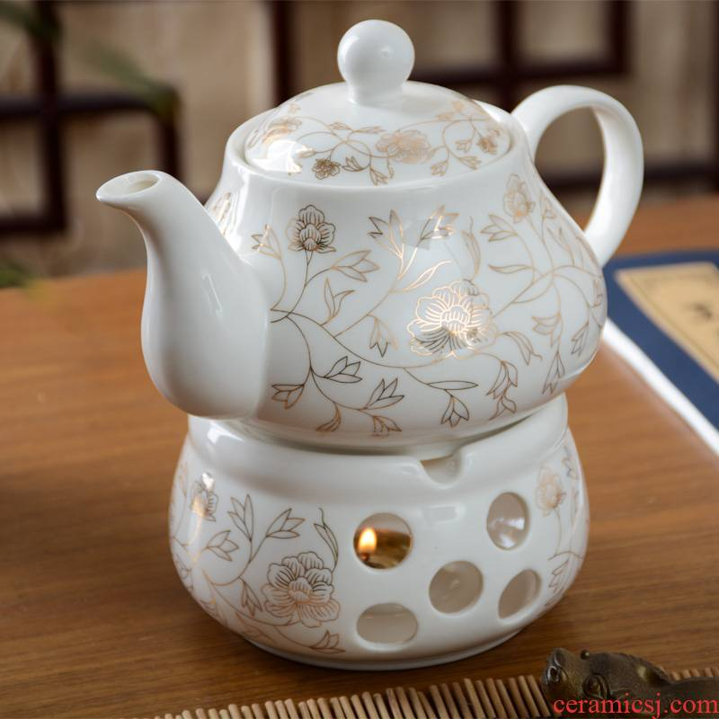 Ceramic based Taiwan tea pot with hot base to hold to high temperature insulation family afternoon tea tea sets tea pot
