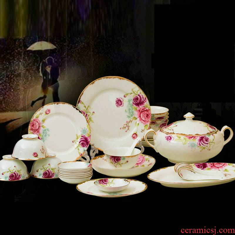 56 skull jingdezhen porcelain tableware suit to use home European ceramic dishes I a housewarming gift porcelain plate