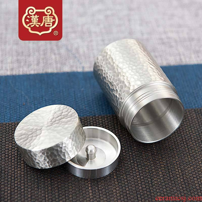 Han and tang dynasties tin spiral metal deposit receives the caddy fixings travel carry seal manual hammer caddy fixings