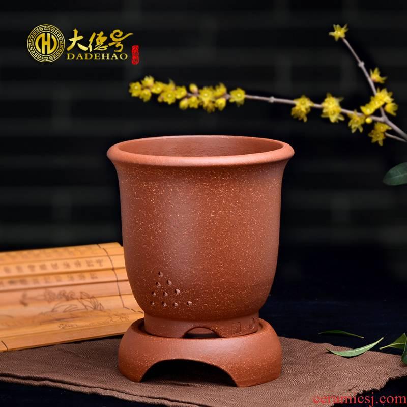 Purple orchid flower POTS yixing exquisite bonsai pot fleshy green plant down slope mud gentleman 's blue flower pot tray