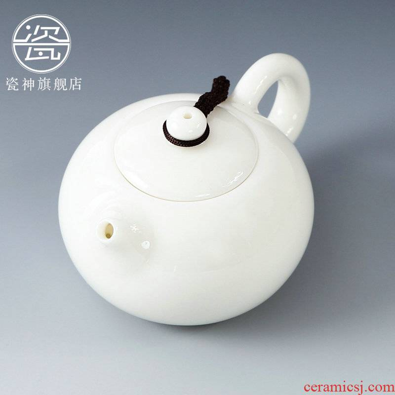 Porcelain dehua white Porcelain teapot xi shi god pot of ceramic teapot kung fu tea set from lard white jade Porcelain pot by hand