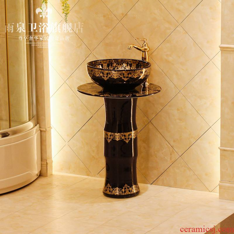 Spring rain of jingdezhen ceramic art basin column column basin basin sink the lavatory basin ceramics