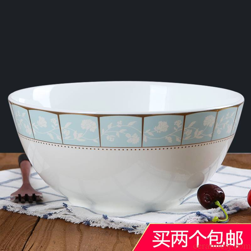 Household size 8 inches to eat rice soup bowl of jingdezhen ceramics rainbow such use contracted creative ipads porcelain hotel tableware