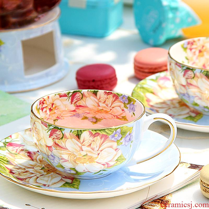 Goods to transport European - style coffee cup suit ipads porcelain ceramic creative English afternoon tea tea tea cup
