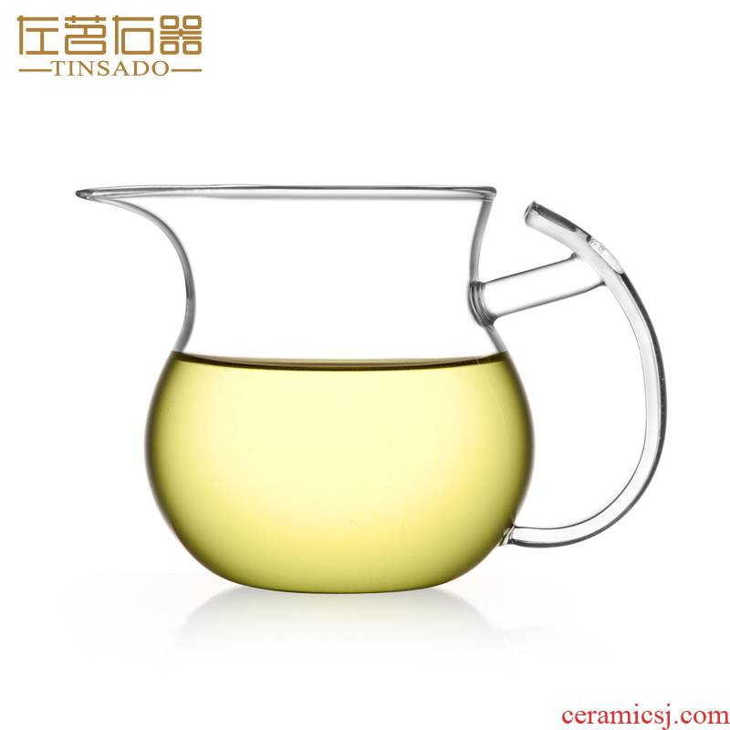 ZuoMing right device with thick glass transparent narrow and fair keller cup with the kung fu tea set a single large size is 250 ml