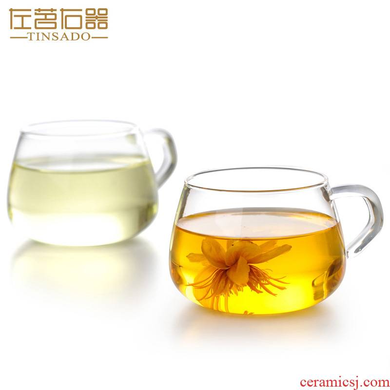 Unit 2 ZuoMing right only have the glass sample tea cup transparent glass getting small household mercifully tea cup 180 ml