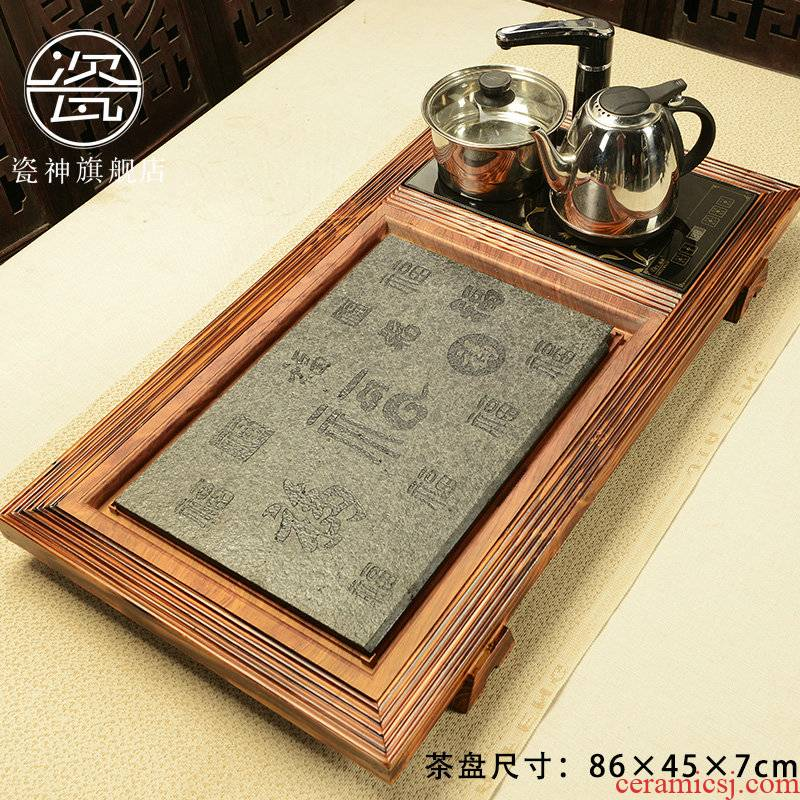Porcelain god example fire wood tea tray was sharply of a complete set of stone tea tea set home four unity electric magnetic furnace