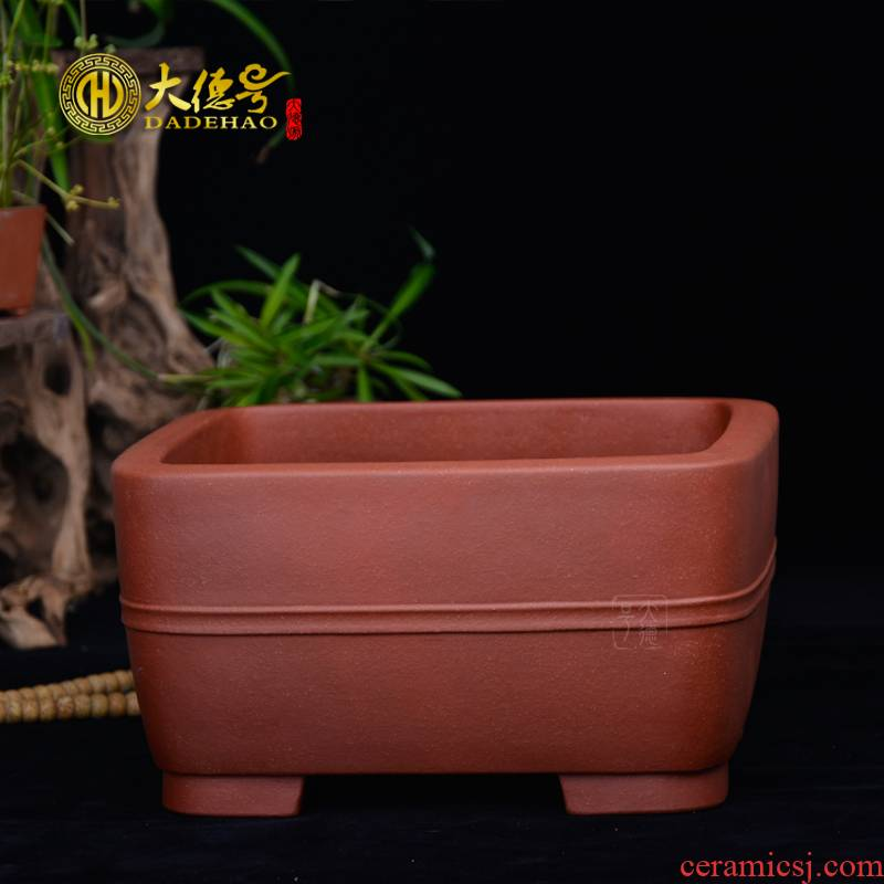 Greatness, yixing purple sand flowerpot high - quality goods of sifang hand basin classical household bonsai bonsai cliffs