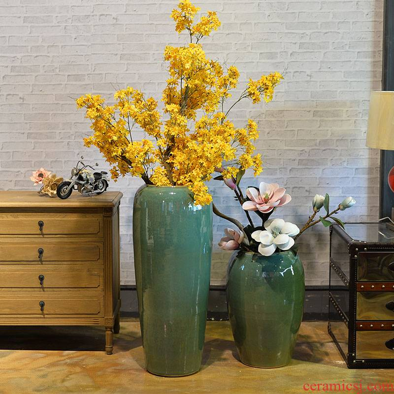 Ceramic vase furnishing articles dry flower arranging flowers flower arrangement sitting room ground hotel villa covers large creative decoration decoration