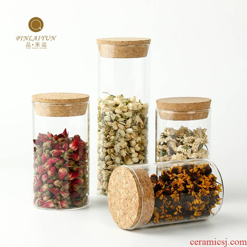Tea as cans of food to the receive goods to transport 】 【 bottle lawsuits glass jar airtight jar of storage tank and medium