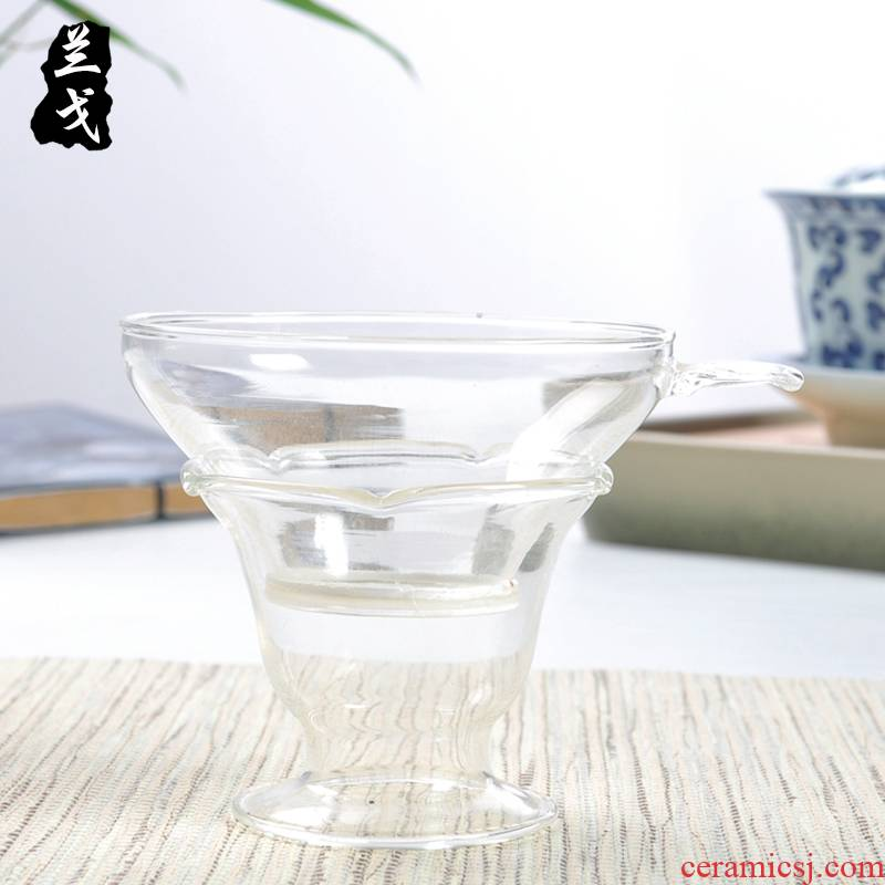 Having tea glass filter just a cup of tea sea kung fu tea tea set spare parts)