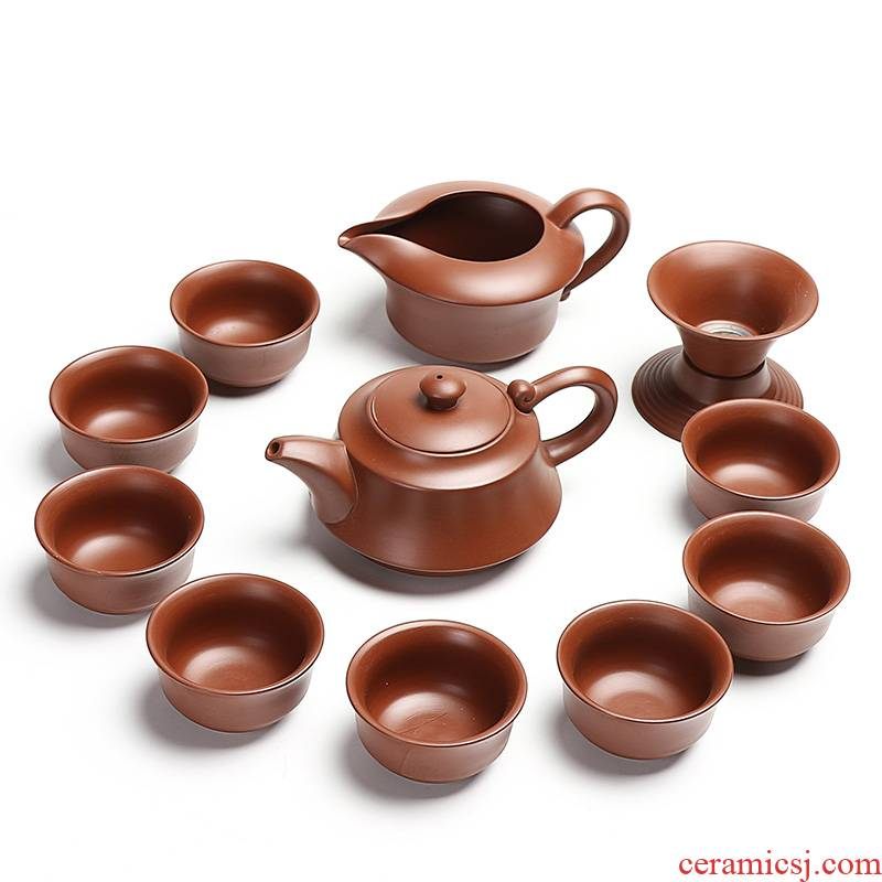 Ding heng run of mine ore purple sand tea set a complete set of kung fu tea set are it fragrance - smelling cup tea tea cup