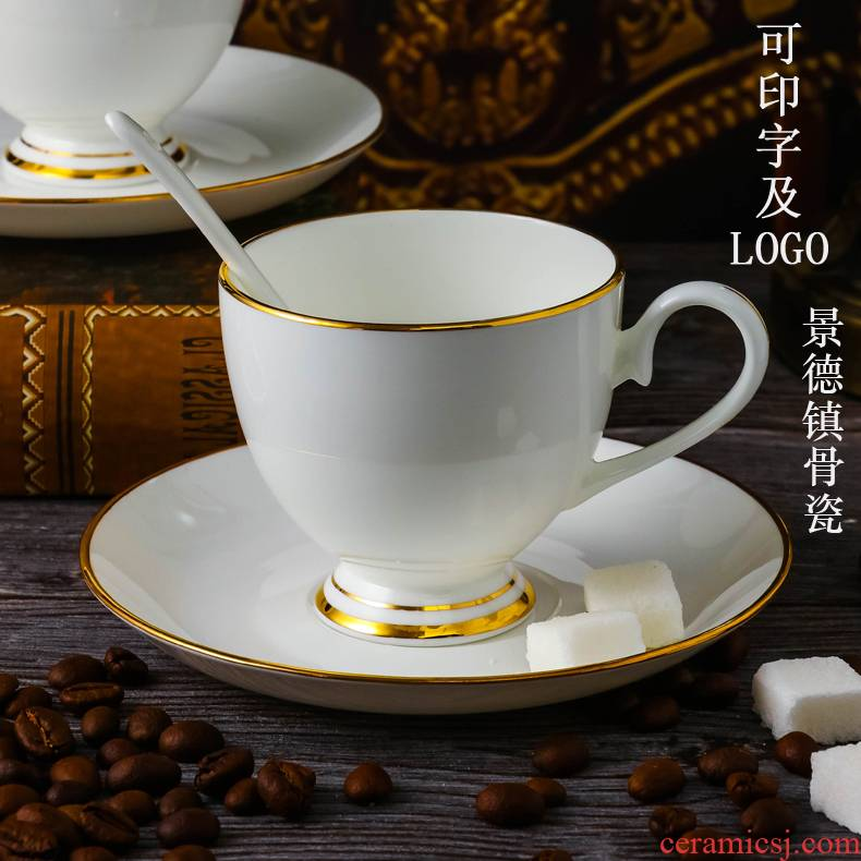 Jingdezhen ceramic white coffee cup up phnom penh dish suits for office coffee cup ipads China custom logo
