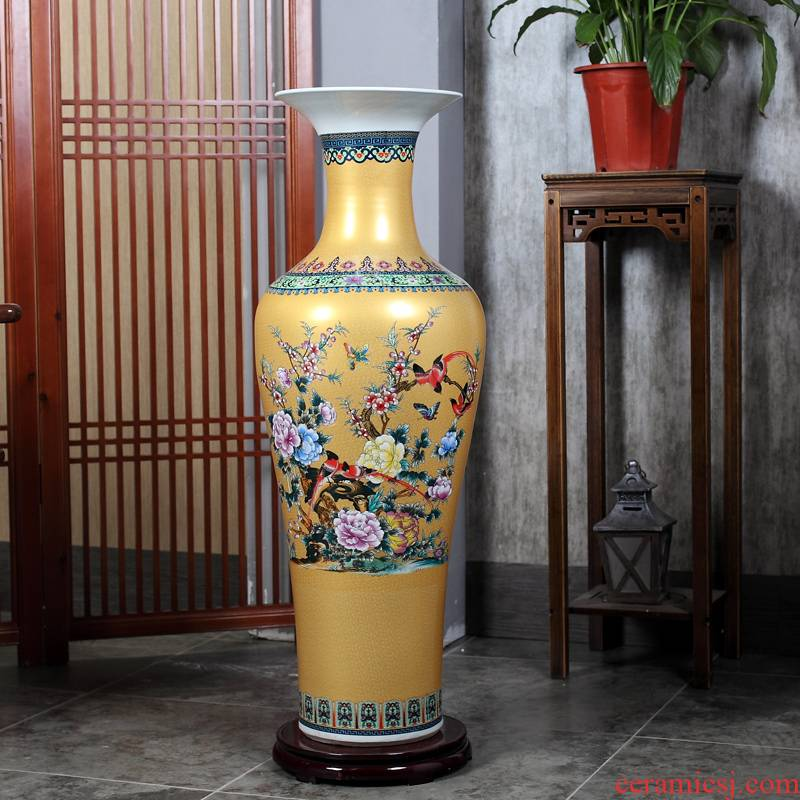 Jingdezhen sitting room of large vase flower arranging housewarming gift ceramics TV ark, Chinese style household decorative furnishing articles