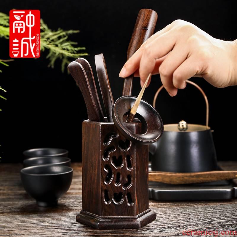 Melts if ebony kung fu tea tea six gentleman 's suit ceramics fittings solid wood 6 gentleman tea tray was furnishing articles