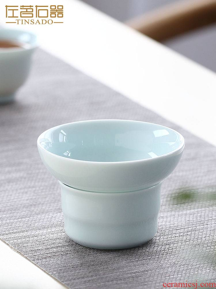 ZuoMing right device celadon creative high density filter filter cup) of tea tea filters ceramic tea set with parts