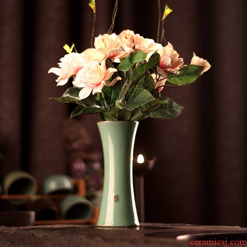 Ceramic flower vases table place flowers sitting room place small pure and fresh and creative contracted home decoration vase