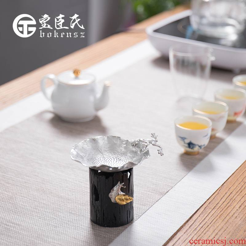 Treasure minister 's tin) filter creative tea filter good Japanese character manual tea accessories kung fu tea