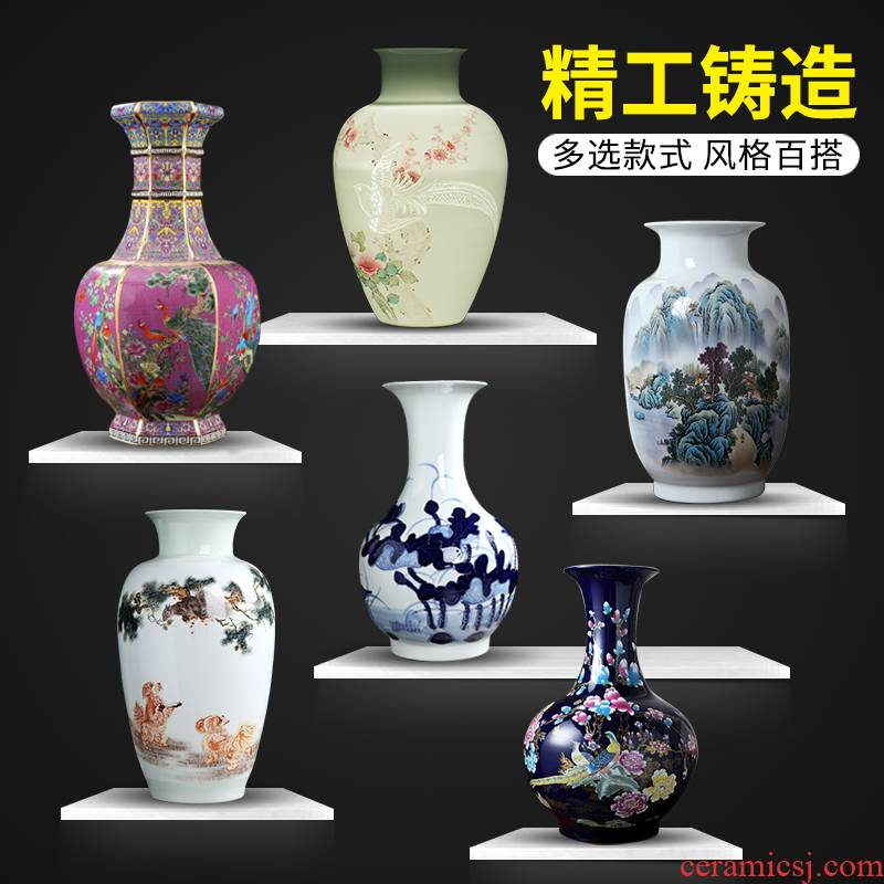 Manual hand - made vases furnishing articles flower arranging jingdezhen ceramics from the sitting room porch decoration office study arts and crafts