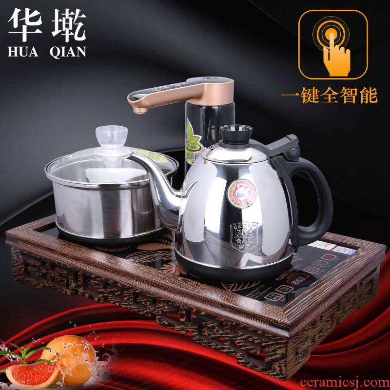 China Qian kung fu tea set four unity electric tea stove automatic intelligent household water 304 stainless steel kettle