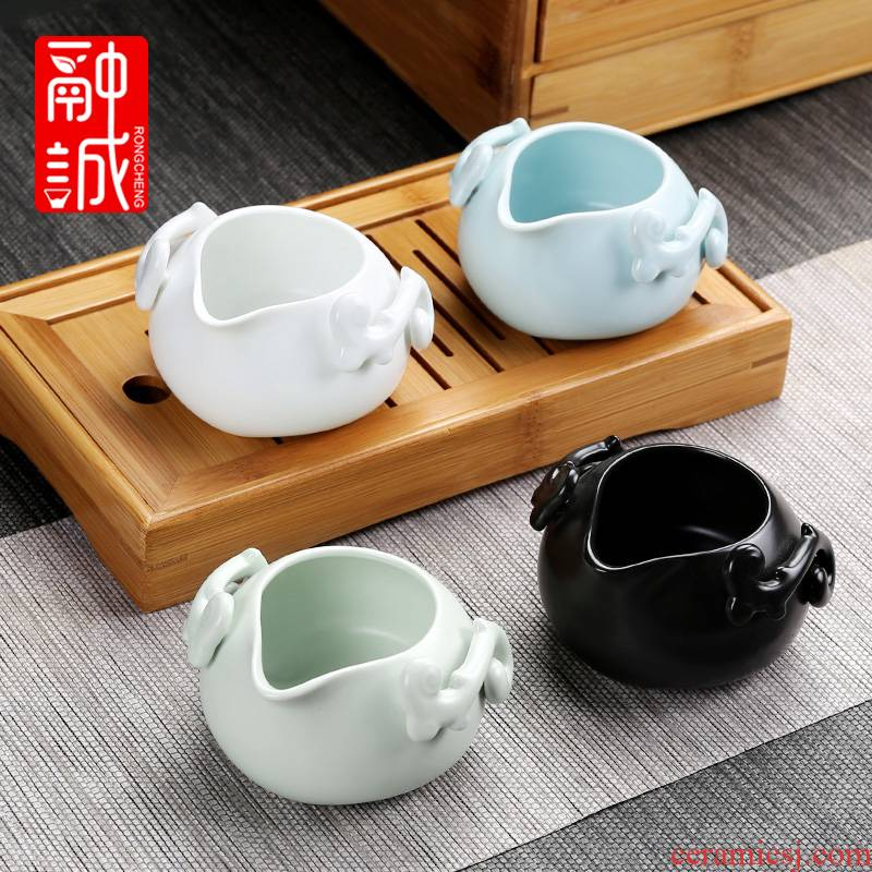 Suit up with ceramic fair keller) kung fu tea tea accessories points to hold to hot tea sea creative tea cup