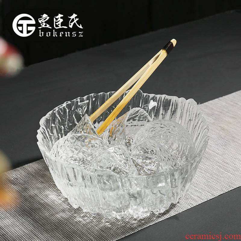 Treasure minister 's hot tea for wash large glass wash bucket tea cups to wash bowl with water, after the writing brush washer tea accessories