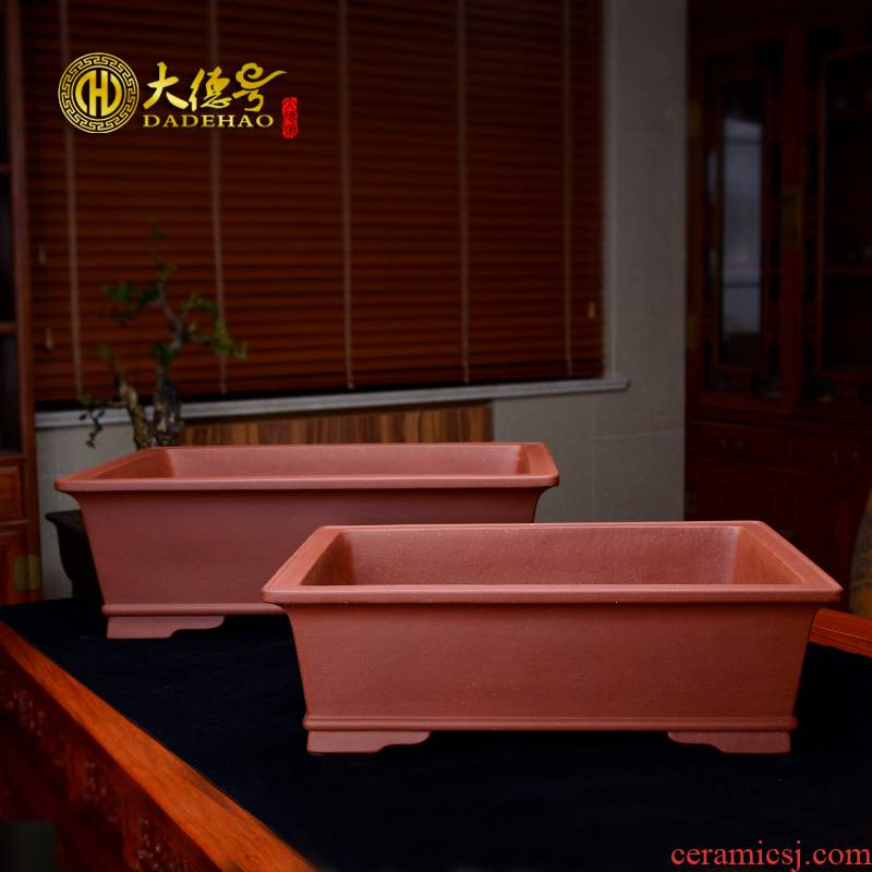 Greatness, violet arenaceous basin of rectangular exquisite bonsai pot size floating rectangular flower pot expressions using cement bag mail clearly