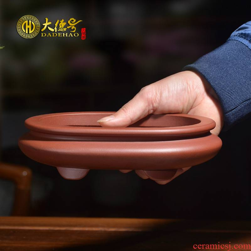 Greatness, purple sand flowerpot ceramic contracted meaty plant asparagus bonsai rockery calamus small beam waist round expressions using basin