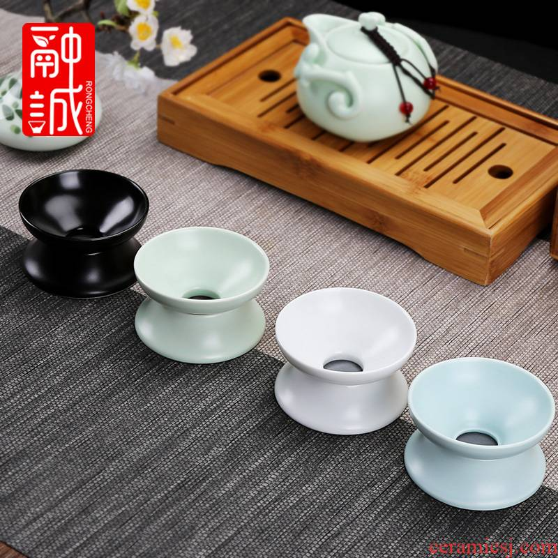 ) filter creative ceramic filter tea tea white gauze filter kung fu tea accessories make tea is good
