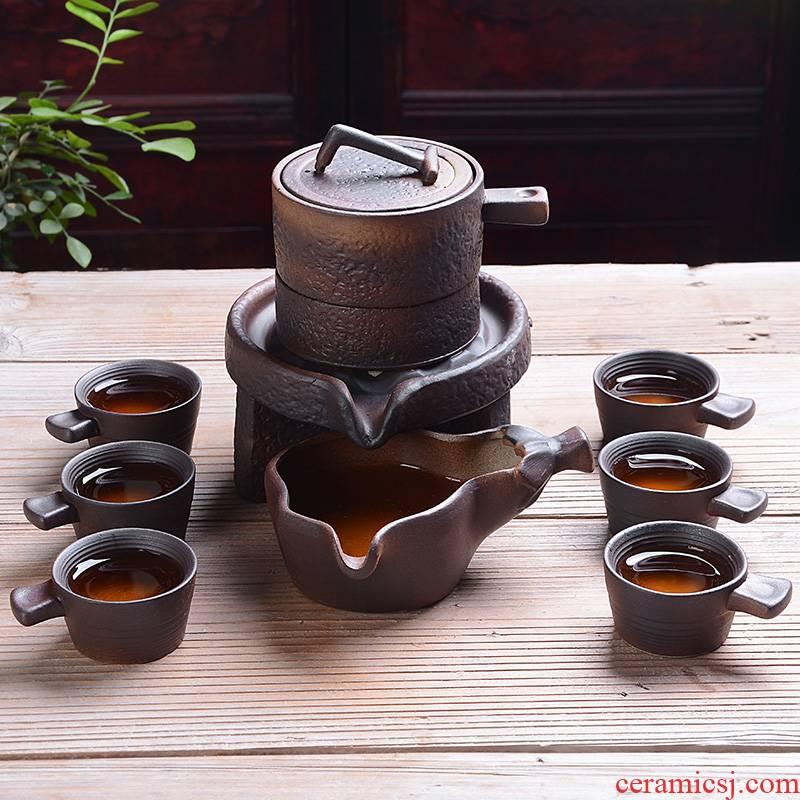 Tao blessing half automatic kung fu tea set ceramic home, lazy people make tea millstones creative gift set tea service