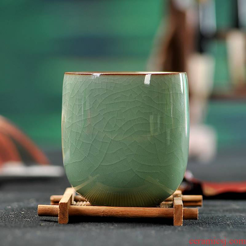 Sapphire hin Japanese celadon teacup creative gifts insulation conference office cup tea ceramic cup six color cup