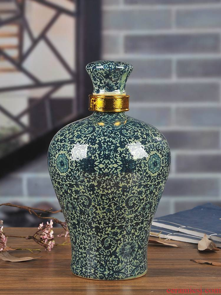 Jingdezhen ceramic sealed bottles of liquor altar it 5 jins of household to restore ancient ways it mercifully wine jars