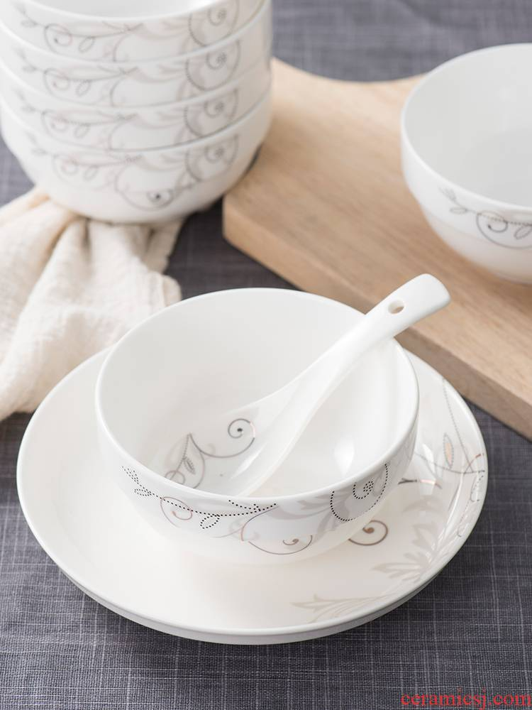 10 use household bowls a single jingdezhen ceramic bowls individuality creative household to use to use ipads porcelain for dinner